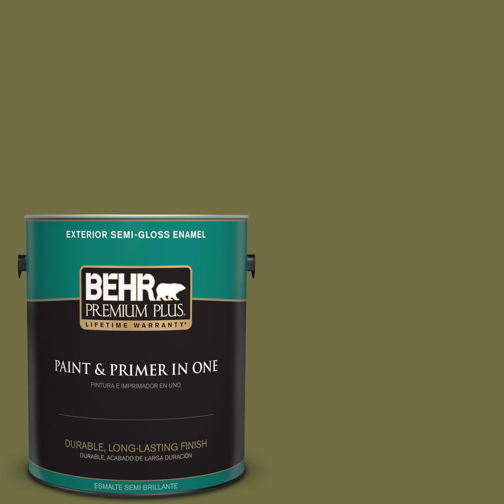 1-gal. #M340-7 Classic Avocado Semi-Gloss Enamel Exterior Paint