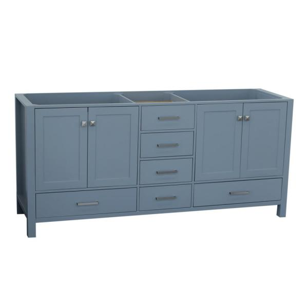 Ariel Cambridge 72 in. W Vanity Cabinet Only in Grey