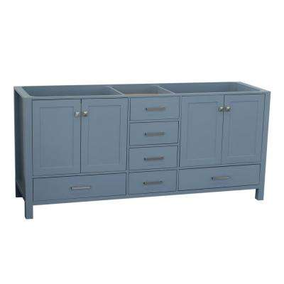 Cambridge 72 in. W Vanity Cabinet Only in Grey