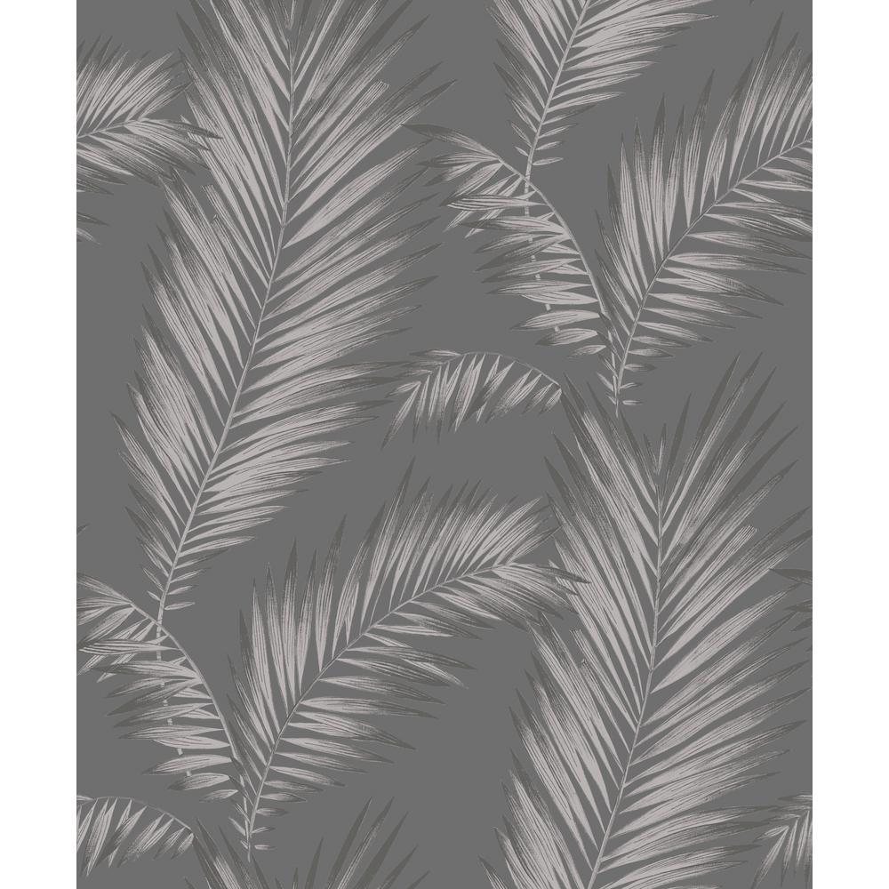 Ardita Silver Gunmetal Unpasted Un-Pasted Wallpaper