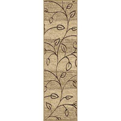 Alabaster Beige 2 ft. x 8 ft. Indoor/Outdoor Runner Rug