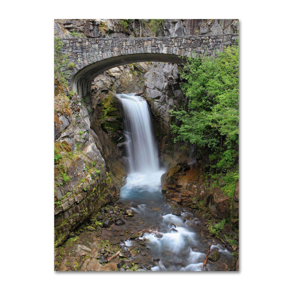 16 in. x 24 in. Christine Falls Rainier Canvas Art