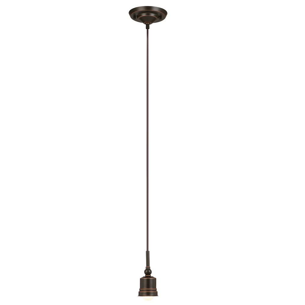 Hampton Bay Mix & Match 8-Watt Oil-Rubbed Bronze Integrated LED Mini- - Hampton Bay Mix & Match 8-Watt Oil-Rubbed Bronze Integrated LED