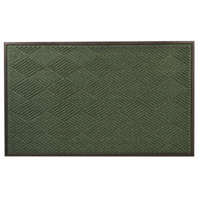 Opus Green 24 in. x 36 in. Rubber-Backed Entrance Mat