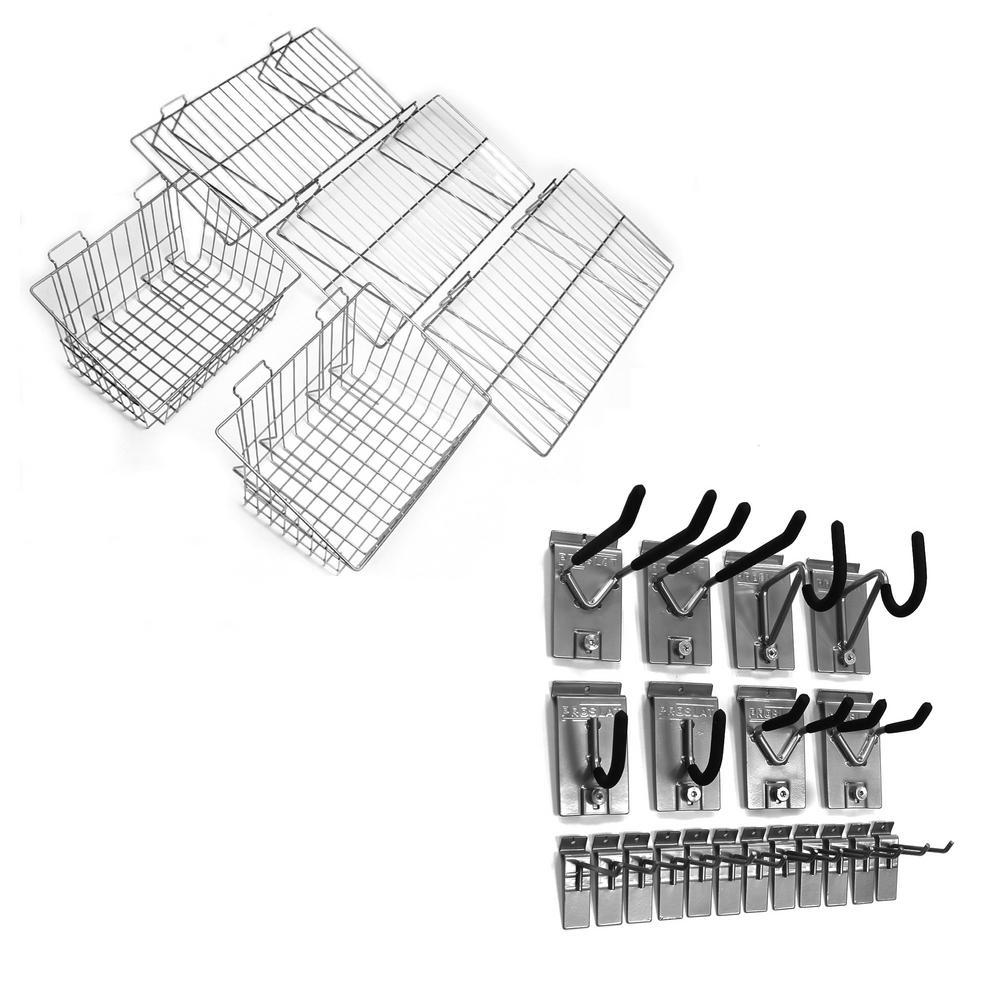 Slatwall Ultimate Hook and Basket Bundle Kit (25-Piece)