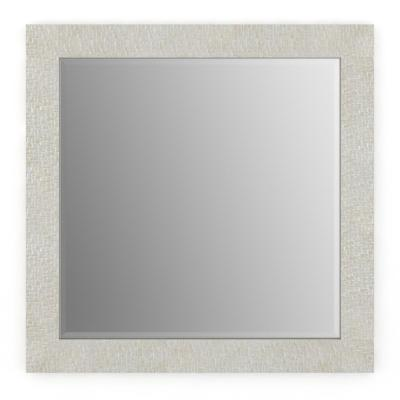 33 in. W x 33 in. H (L2) Framed Square Deluxe Glass Bathroom Vanity Mirror in Stone Mosaic
