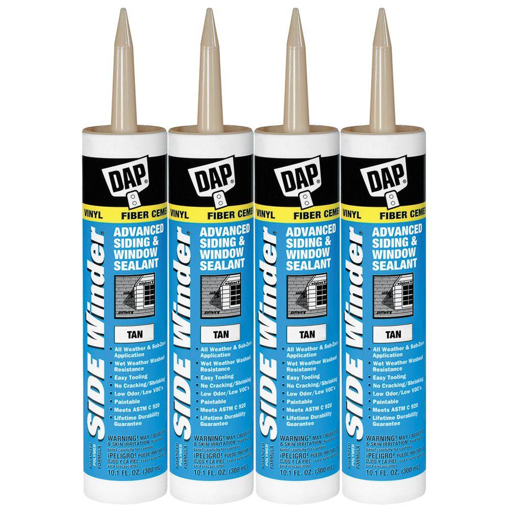 DAP 10.1-oz. Tan Sidewinder Advanced Siding and Window Sealant (4-Pack)-DISCONTINUED