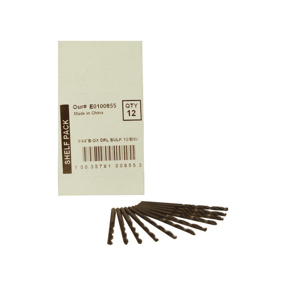 BLU-MOL 5/64 in. Diameter Black Oxide Jobber Length Drill Bit (12-Pack)