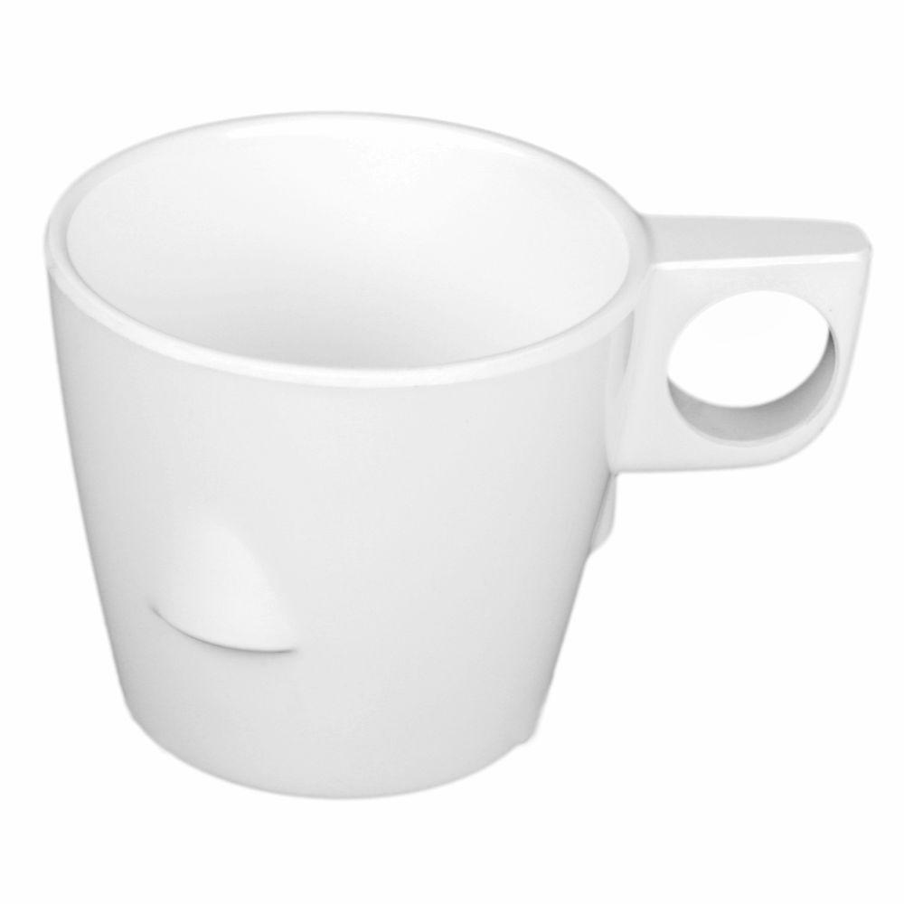 Coleur 7 oz., 3-1/4 in. Stacking Cup in White (12-Piece)