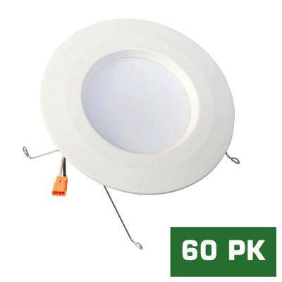 Standard Retrofit 5 in./6 in. White Recessed Housing LED Trim Warm Ceiling Light with 91 CRI, 3000K (60-Pack)