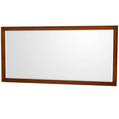 Hatton 70 in. W x 33 in. H Framed Wall Mirror in Light Chestnut