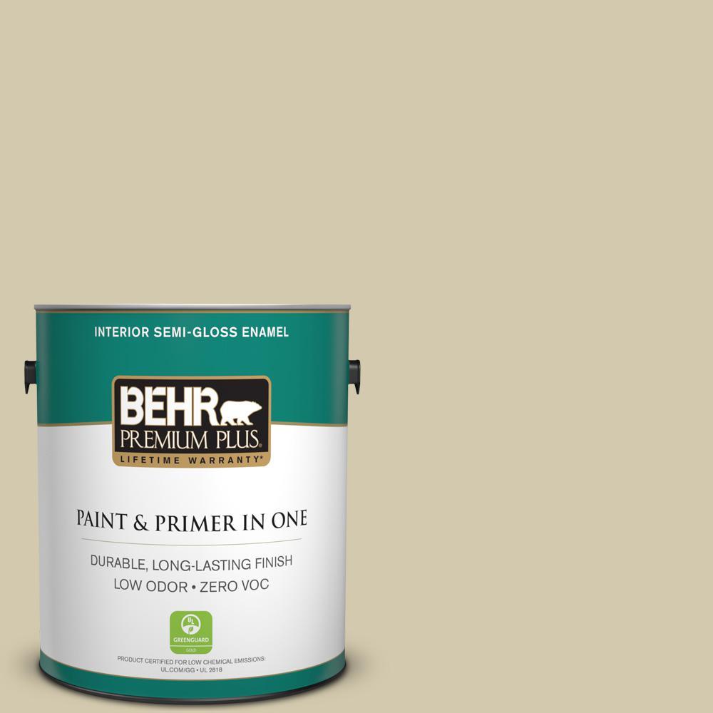 BEHR Premium Plus 1 gal. #PPU9-12 Prairie House Semi-Gloss Enamel Zero VOC Interior Paint and Primer in One