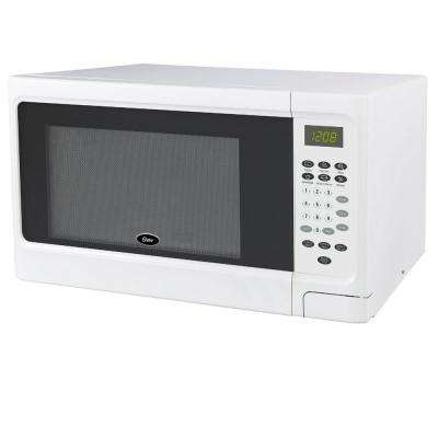 Countertop Microwave White 1.1 cu. ft. 1000-Watt with Push Button