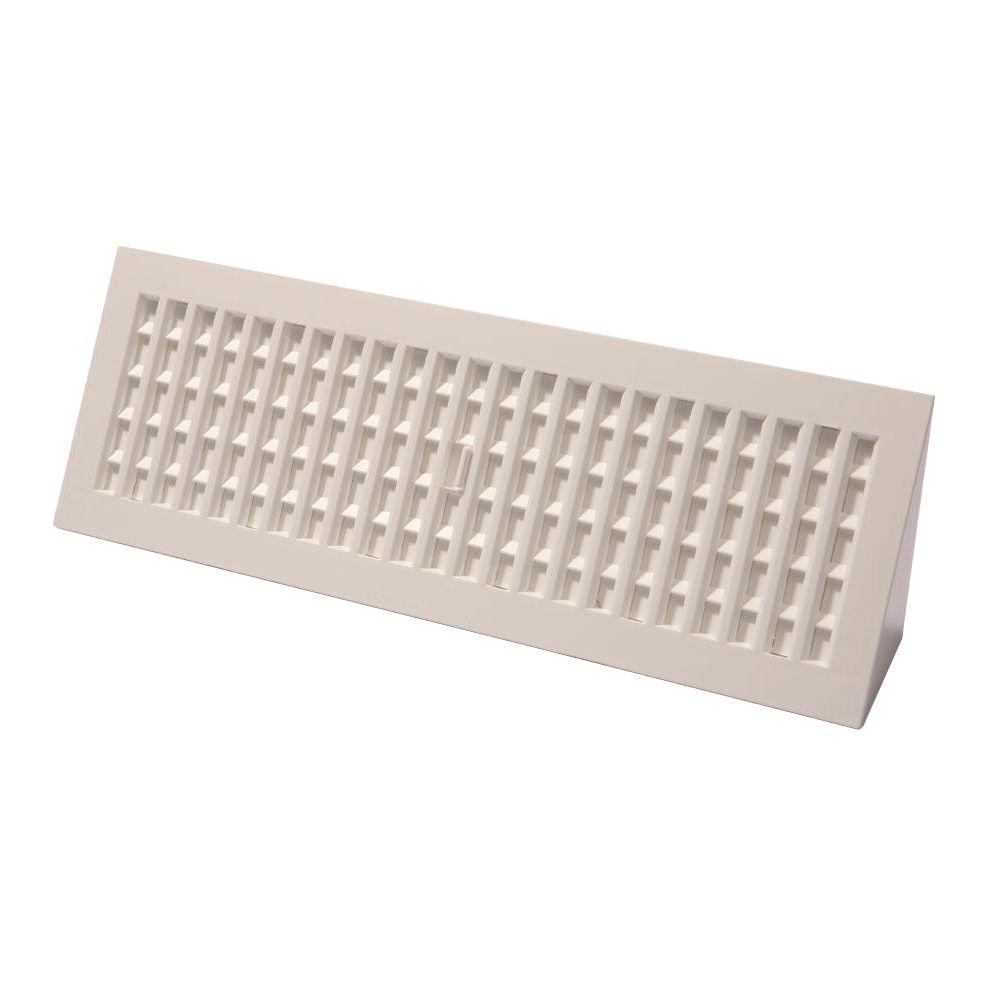 Decor Grates 15 In Plastic Baseboard Register Pl15bb Wh