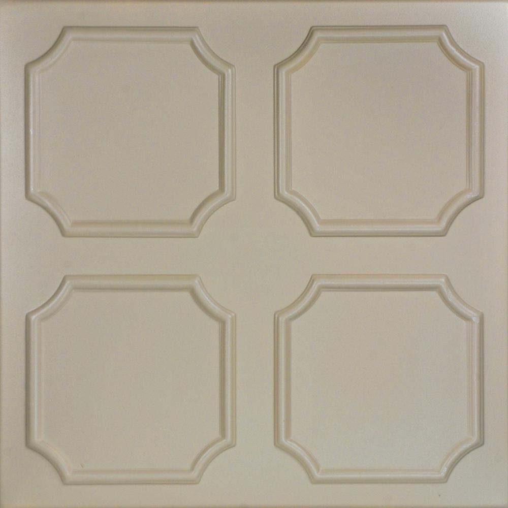 Bostonian 1.6 ft. x 1.6 ft. Foam Glue-up Ceiling Tile in Lenox Tan