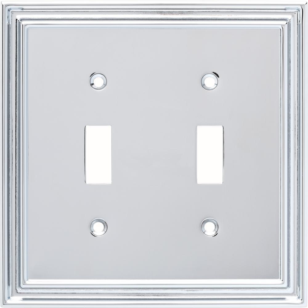Reflect 2-Switch Wall Plate, Polished Chrome