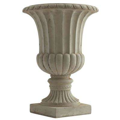 Indoor and Outdoor Sand Colored 20.25 in. Large Urn