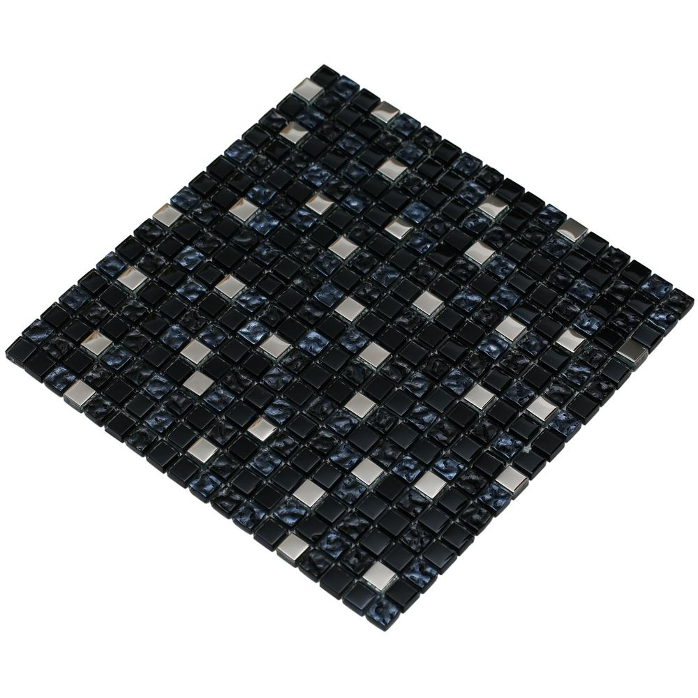 Mirrella Meshpess Diamond Navy And Silver 4 In X 4 In
