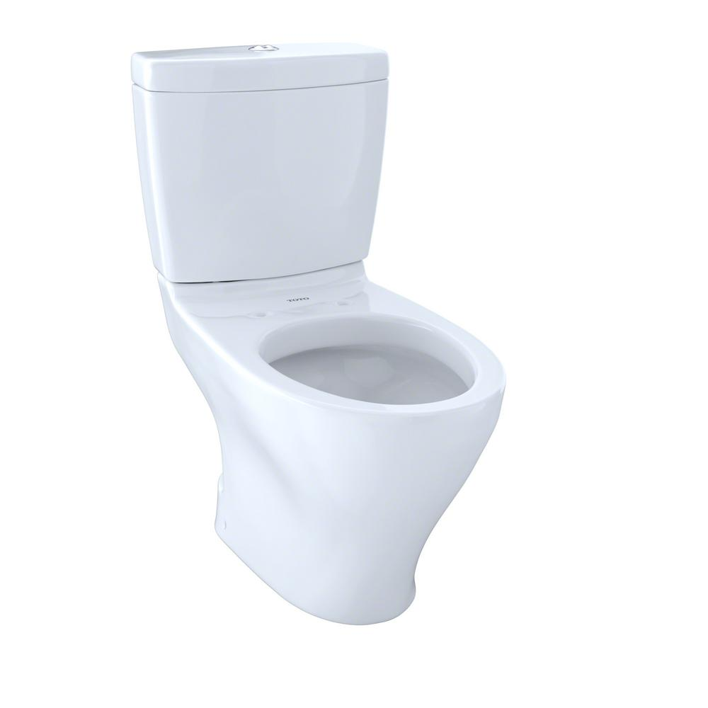 TOTO Aquia 2-Piece 0.9/1.6 GPF Dual Flush Elongated Toilet with 10 ...