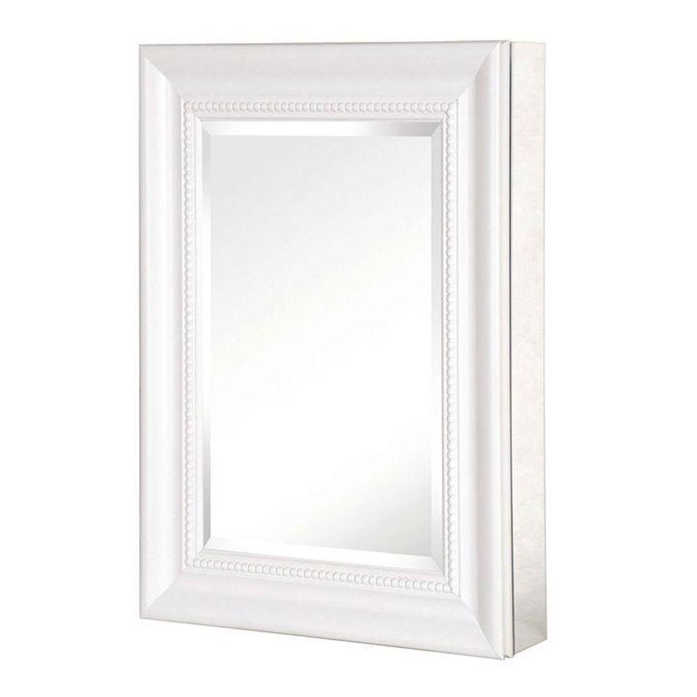 Pegasus 15 In. W Framed Recessed Or Surface Mount Bathroom Medicine Cabinet  With Deco