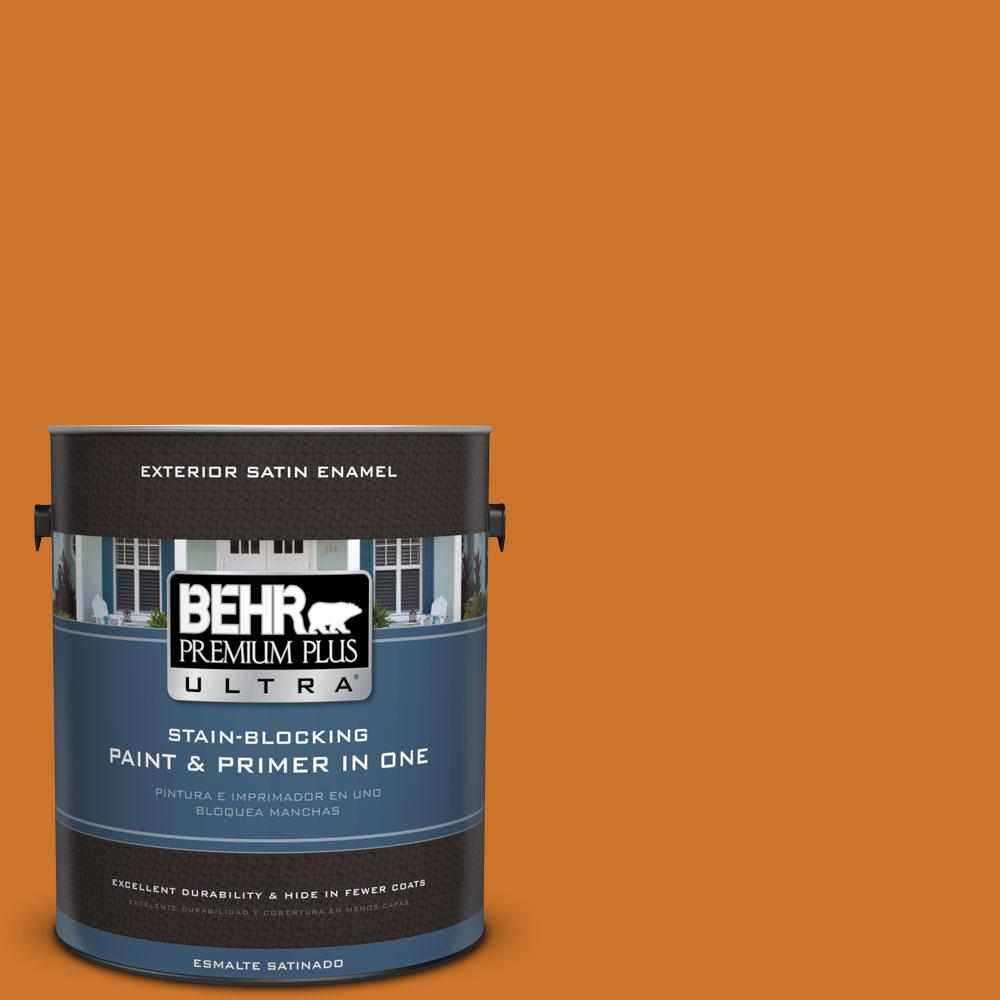 BEHR Premium Plus Ultra 1-gal. #S-H-270 October Satin Enamel Exterior Paint