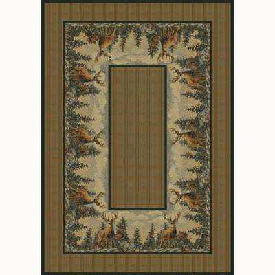 Standing Proud Beige 5 ft. 3 in. x 7 ft. 6 in. Contemporary Lodge Area Rug
