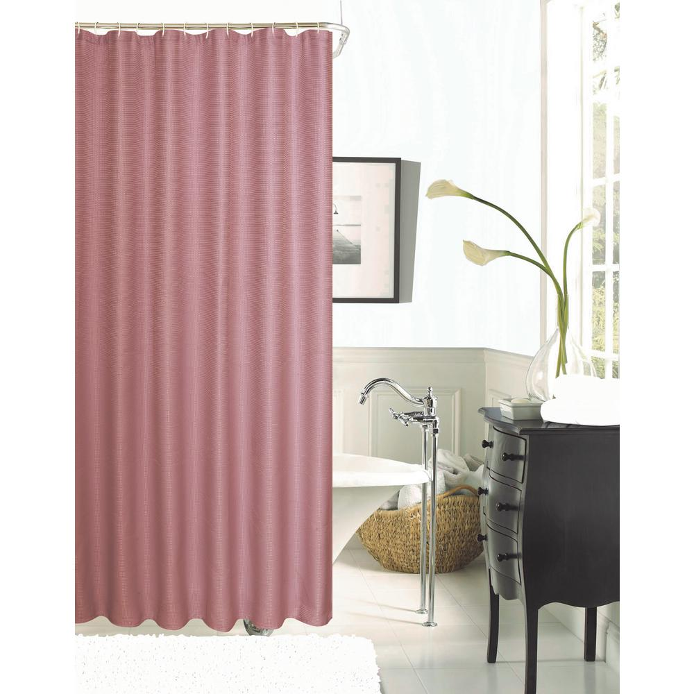 Dainty Home Hotel Collection Waffle 72 In Blush Shower Curtain