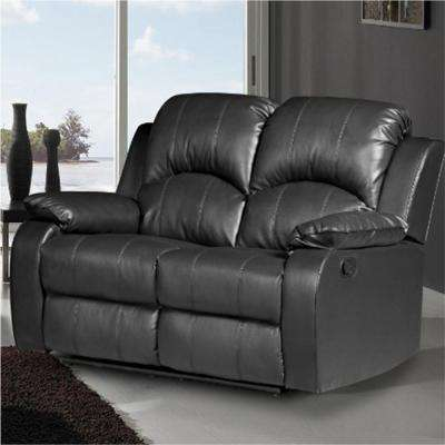 Clarksville Black Leatherette Loveseat