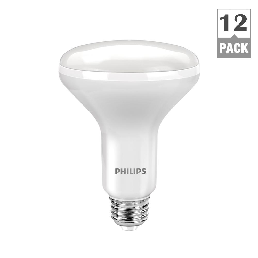 Flood and spot red led bulbs light bulbs the home depot 65w equivalent daylight br30 dimmable led flood light bulb 12 pack aloadofball Images