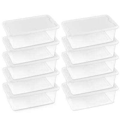 6 Qt. Clear Shoe Box (Set of 10)