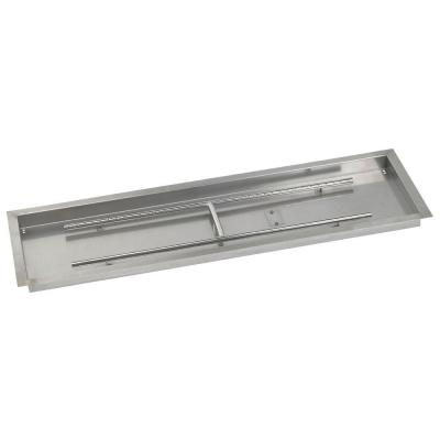 48 in. x 14 in. Stainless Steel Rectangular Drop-In Fire Pit Pan