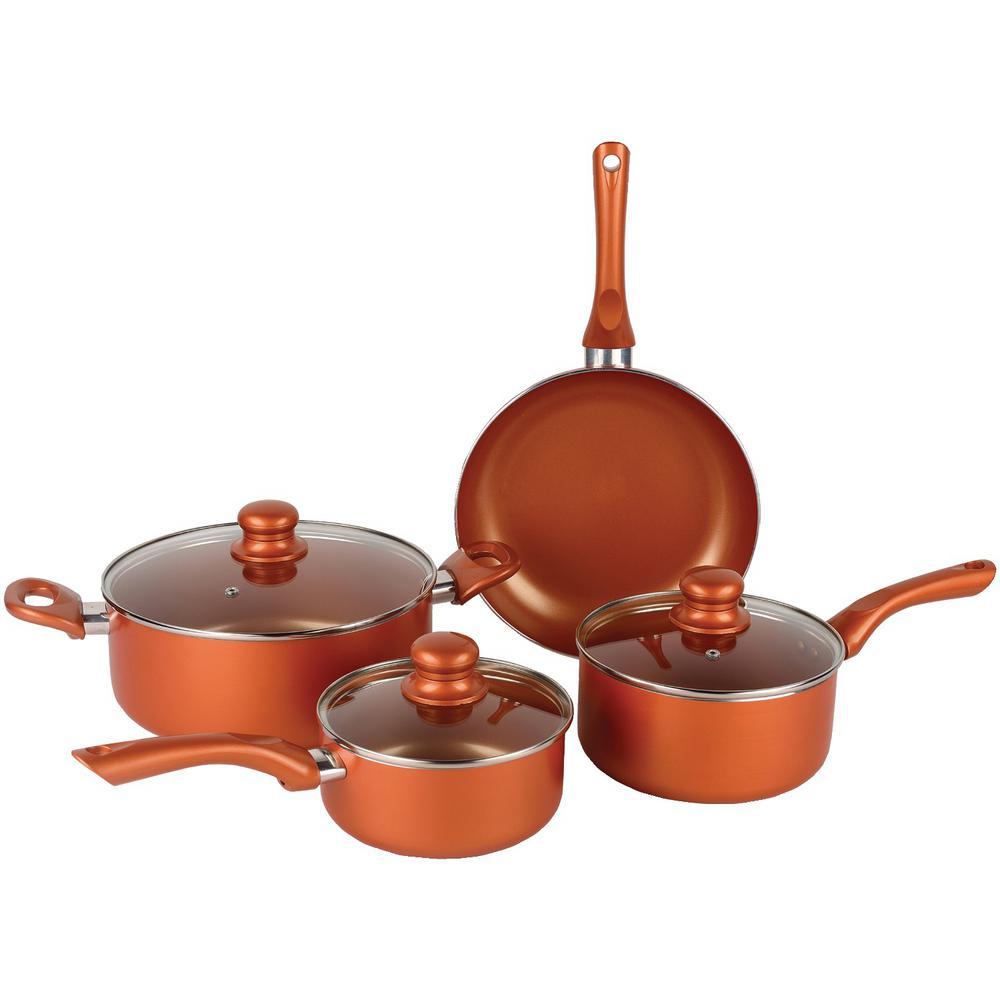 7-Piece Copper Nonstick Cookware Set
