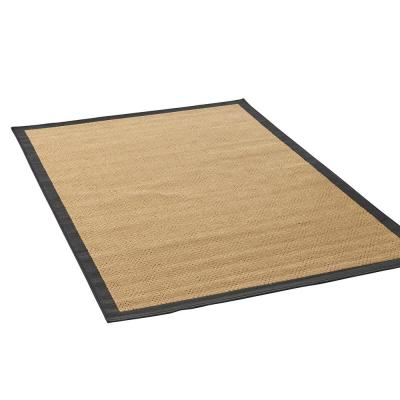 Troy 7 ft. x 10.5 ft. Beige and Black Bordered Indoor/Outdoor Area Rug