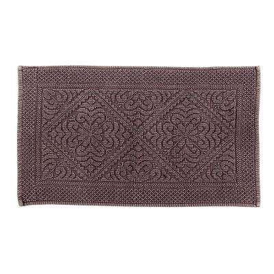 Timeless Stone Wash Burgundy 24 in. x 40 in. Cotton Bath Rug