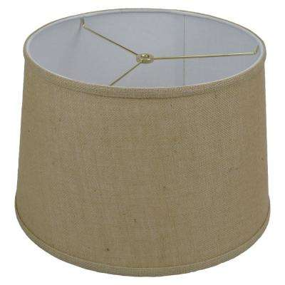 Fenchel Shades 13 in. Top Diameter x 15 in. Bottom Diameter x 10 in. Slant,  Empire Lamp Shade - Burlap Natural
