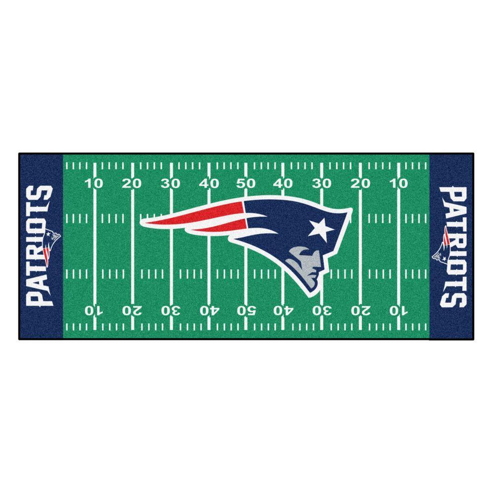 New England Patriots 3 ft. x 6 ft. Football Field Runner Rug