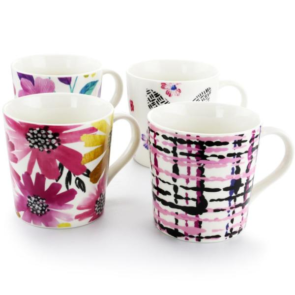 Sweet & Bold 17 oz. Assorted Designs Cup (Set of 4)