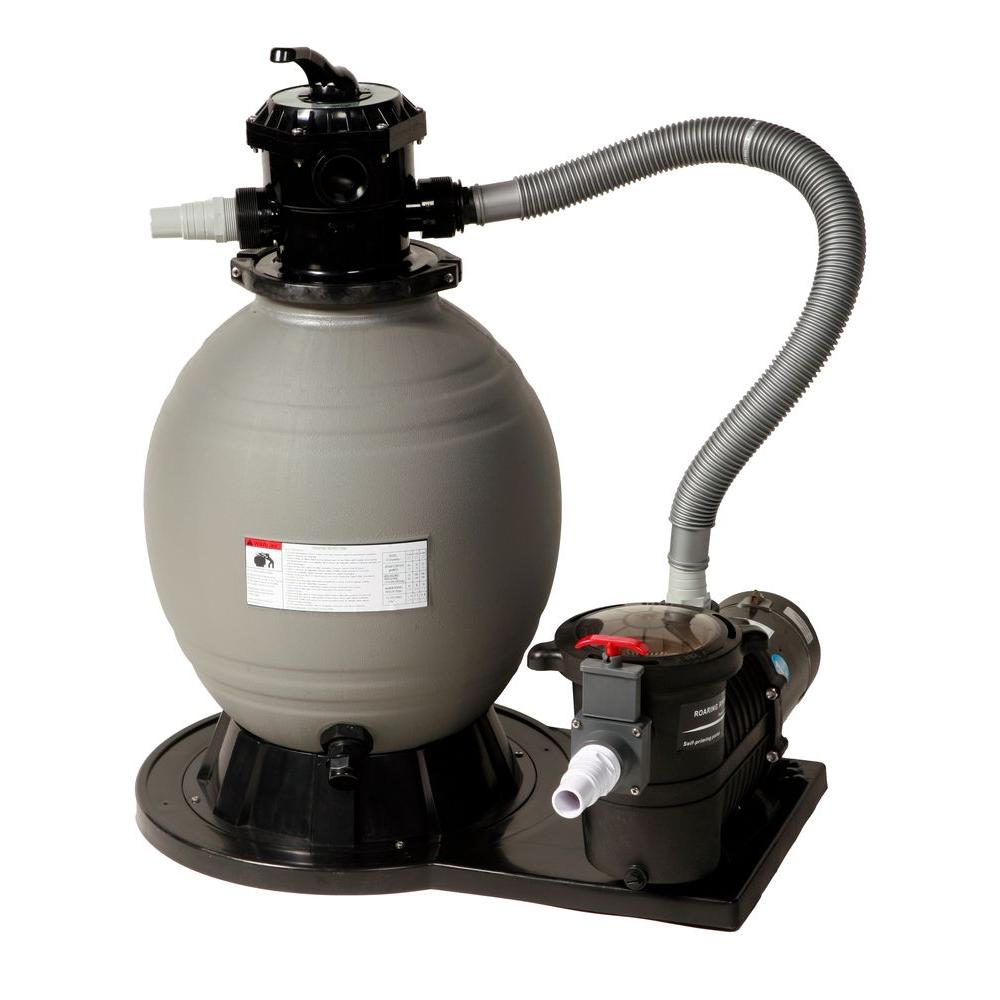 Blue Wave 18 in. Sand Filter System with 1 HP Pump for Above Ground ...