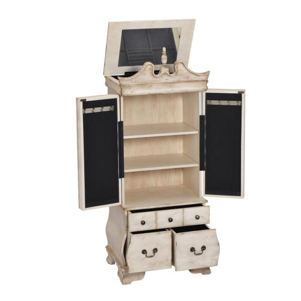 Otis Jewelry Armoire in Antique White
