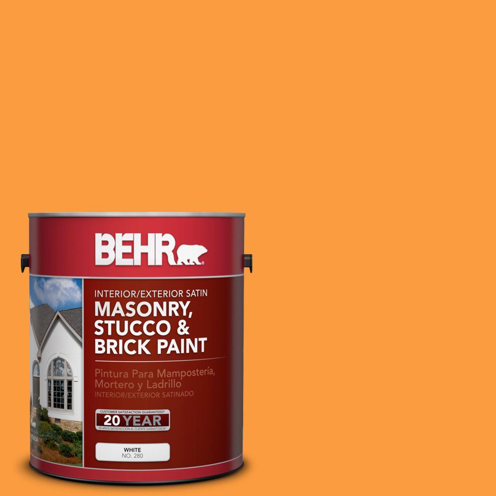1 gal. #P240-6 Exotic Blossom Satin Interior/Exterior Masonry, Stucco and Brick Paint