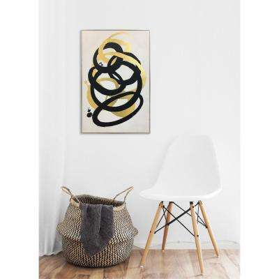 45 in. H x 30 in. W 'Formas Gold' by Wynwood Studio Printed Framed Canvas Wall Art
