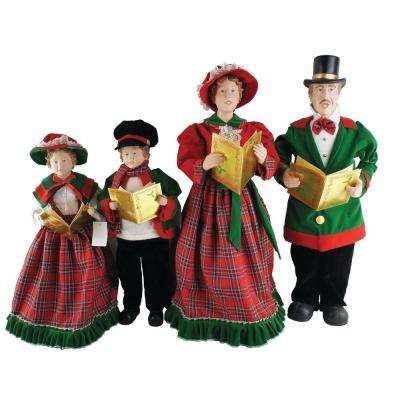 20 in. to 27 in. Christmas Day Carolers with Songbooks (Set of 4)