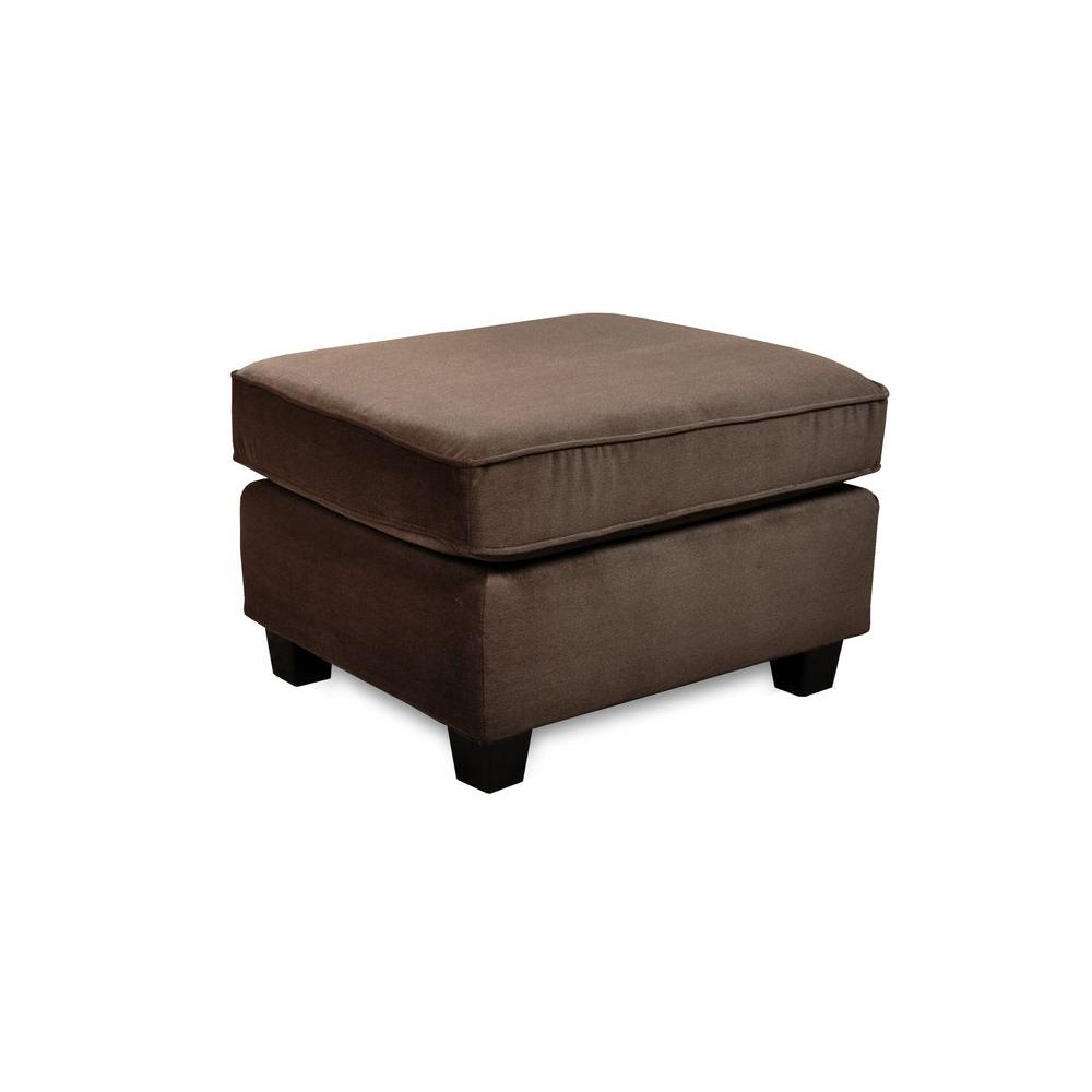 Sofab Muse Upholstered Fabric Ottoman in Brown
