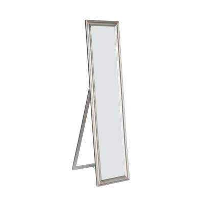 Silver Full Length Standing Mirror with Decorative Design