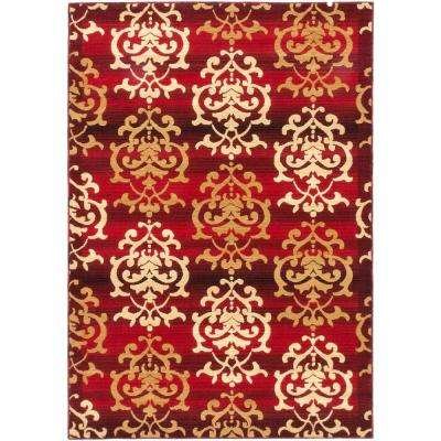 Crown Dark Burgundy 5 ft. x 8 ft. Area Rug