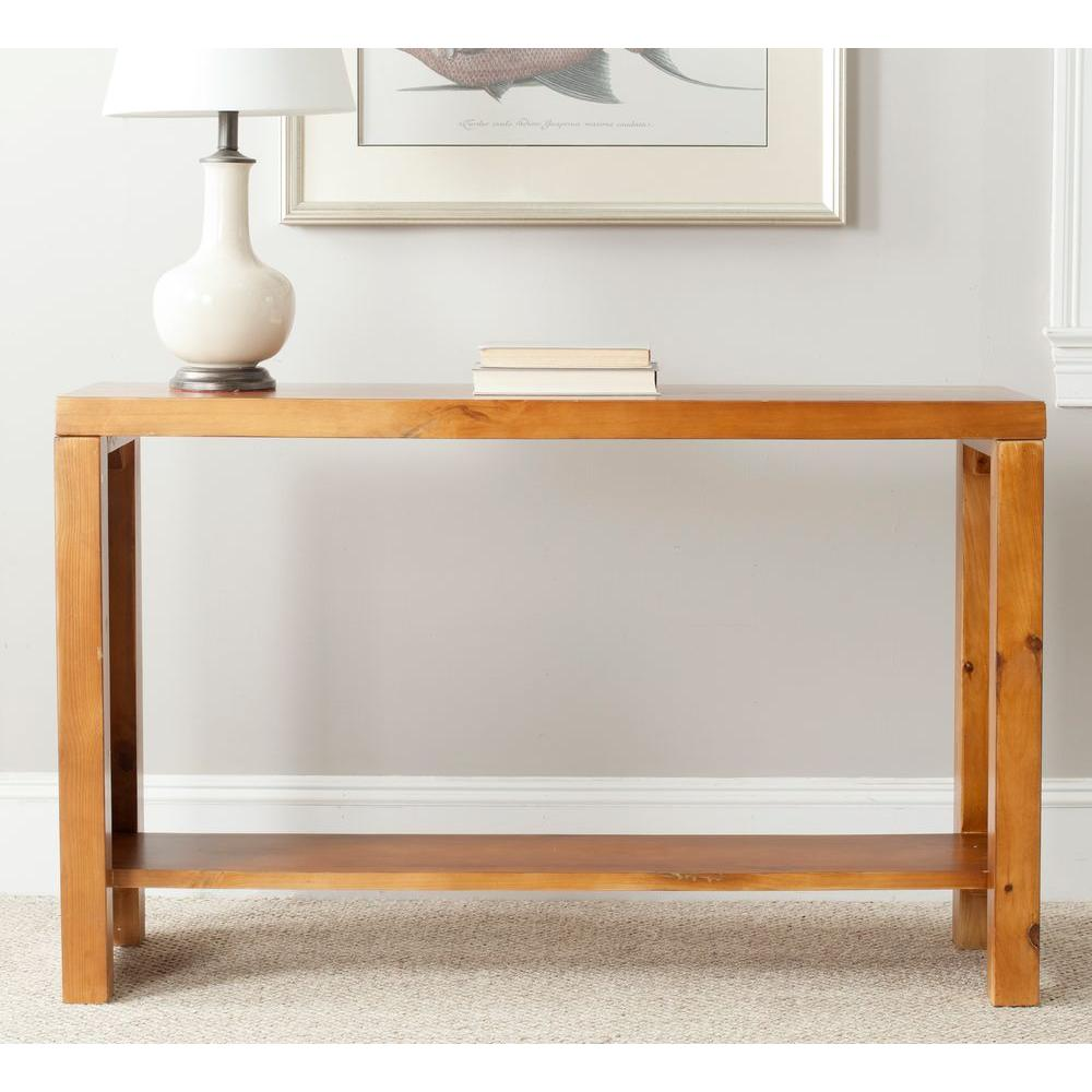 Safavieh Lahoma Light Oak Console Table