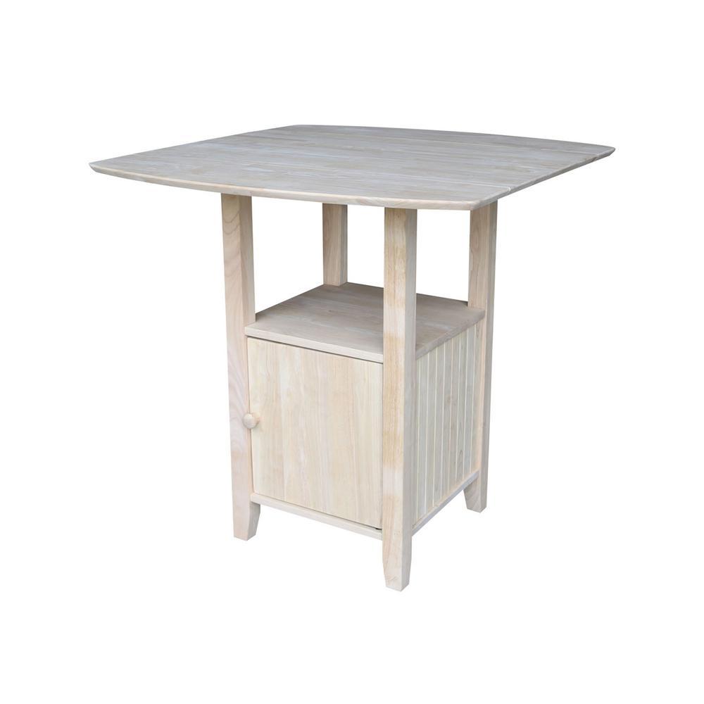 Unfinished Dual Drop Leaf Pub/Bar Table