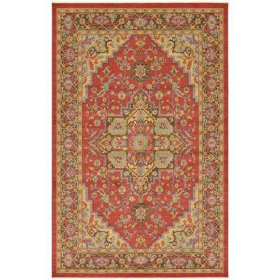 Red Bright 11 X 16 Area Rugs Rugs The Home Depot