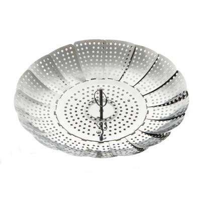 11 in. Stainless Steel Foldable Vegetable Steamer