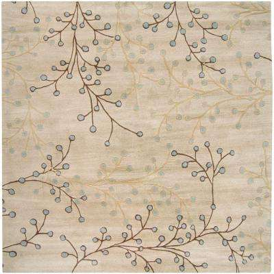 Bari Ivory 9 ft. 9 in. x 9 ft. 9 in. Square Area Rug